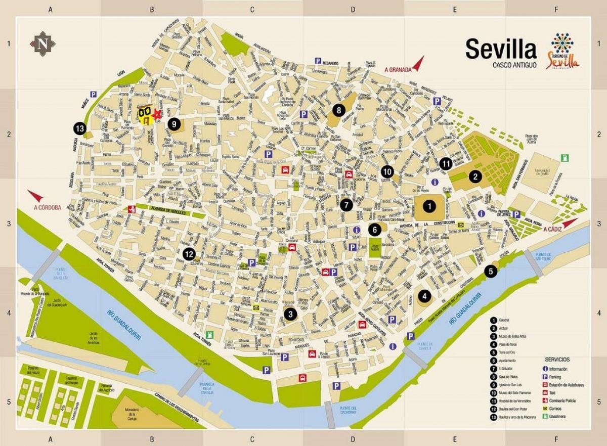 Carte Espagne Hors Ligne.Sevilla Hors Ligne Carte Carte De Sevilla En Mode Hors Connexion